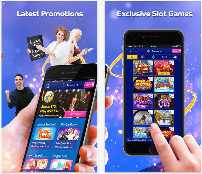 Out of all the mobile Bingo Apps available, it is the Gala Bingo App that is one of the most downloaded of them all. The App has everything you could wish for including the ability to add and withdraw funds to and from your account, just like on a desktop computer.